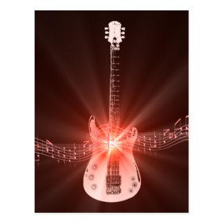 Burning Guitar Postcard