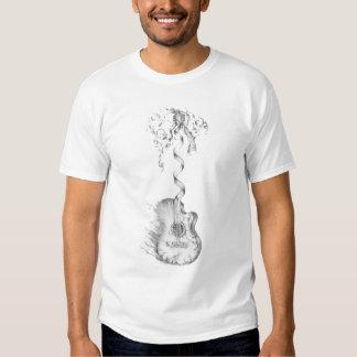 Burning guitar t-shirt