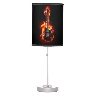 Burning Guitar Table Lamp