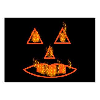 Burning Halloween Pumpkin Large Business Card