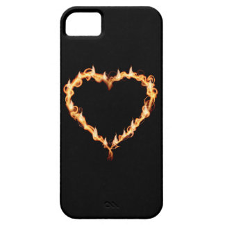 Burning Heart (Black Background) iPhone 5 Covers
