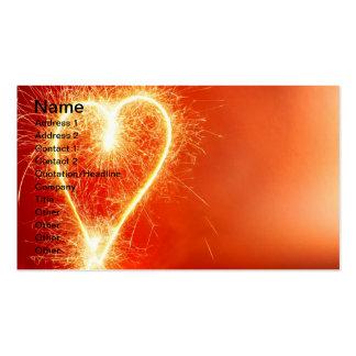 Burning heart business card