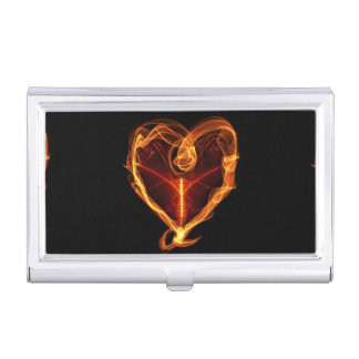 Burning Heart Business Card Cases