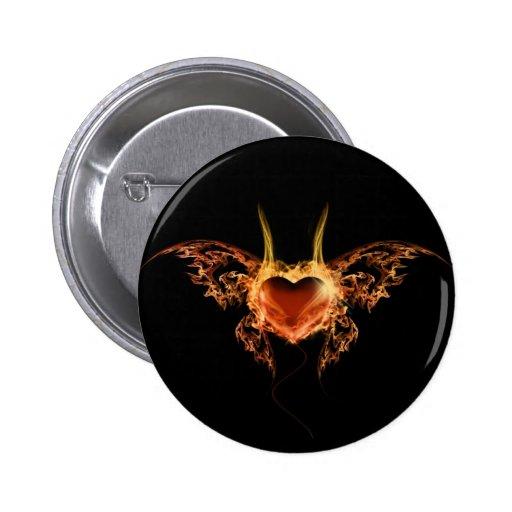Burning Heart Pin