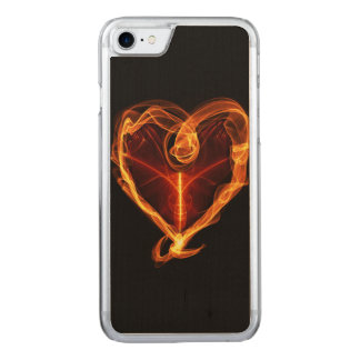 Burning Heart Carved iPhone 7 Case