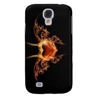 Burning Heart Galaxy S4 Covers