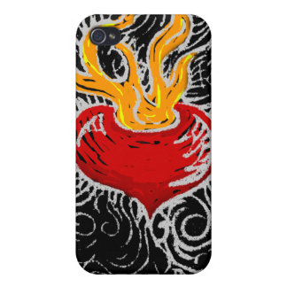 Burning Heart Cases For iPhone 4