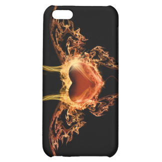 Burning Heart Case For iPhone 5C