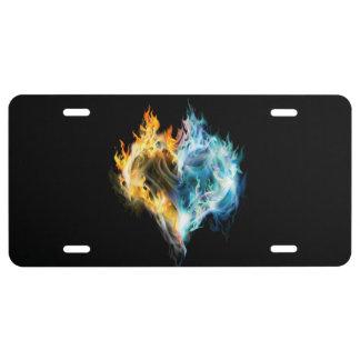 Burning Heart License Plate