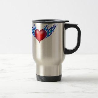 Burning heart love you mug