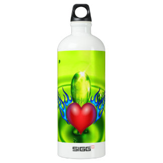 Burning heart love you SIGG traveler 1.0L water bottle