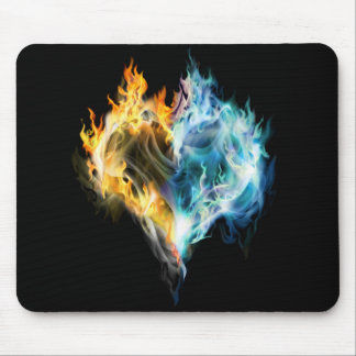Burning Heart Mouse Pad