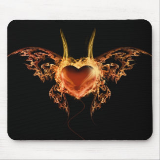 Burning Heart Mousepad