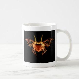 Burning Heart Coffee Mug