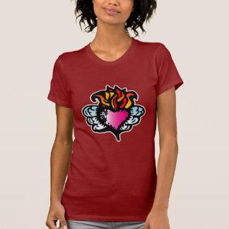 Burning Heart of Mine - Woodcut Valentine T Shirts