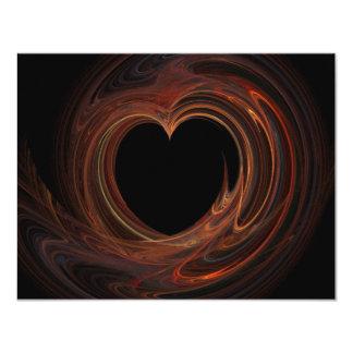 Burning Heart on Invitation