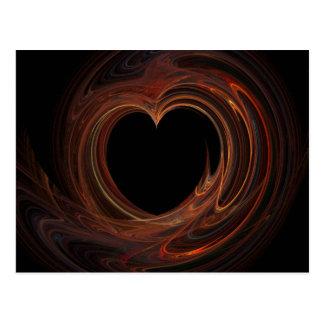Burning Heart on Postcard