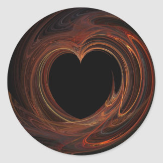Burning Heart on Sticker
