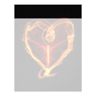 Burning Heart Personalized Letterhead