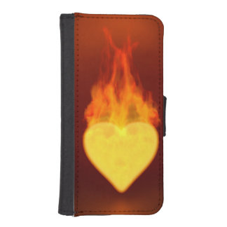 Burning Heart iPhone 5 Wallets