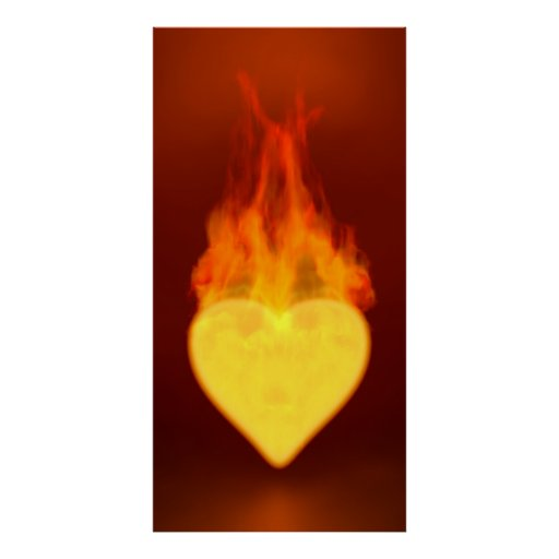 Burning Heart Posters
