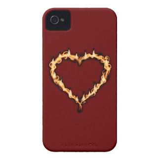 Burning Heart  (Red Background) Case-Mate iPhone 4 Cases