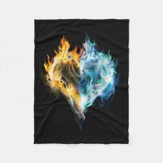 Burning Heart Small Fleece Blanket