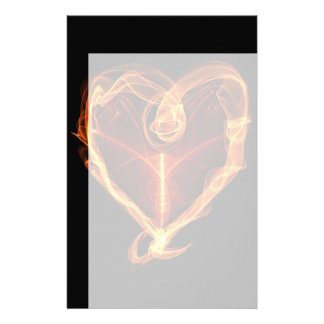 Burning Heart Stationery Paper