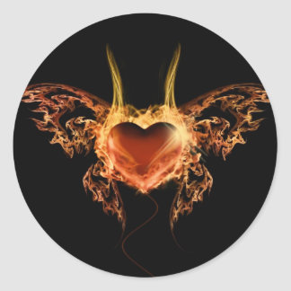 Burning Heart Stickers
