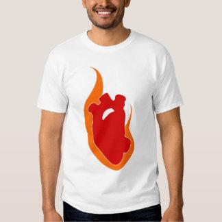 Burning Heart Tee Shirts