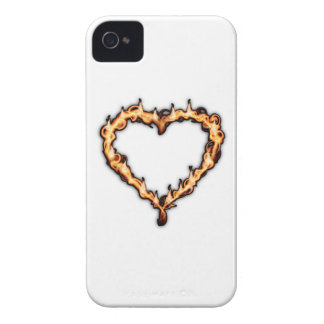 Burning Heart (White Background) Case-Mate iPhone 4 Cases