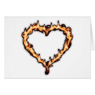 Burning Heart (White Background) Greeting Card
