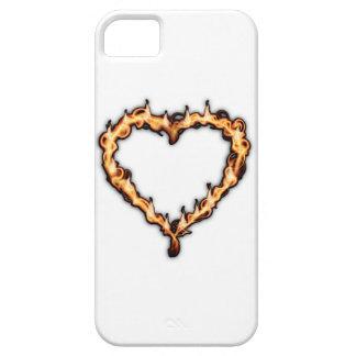 Burning Heart (White Background) iPhone 5 Case