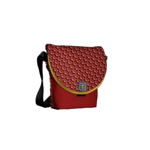 Burning hearts courier bags