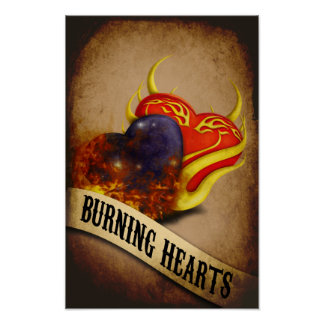 Burning Hearts Poster