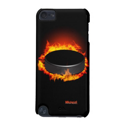 Burning Hockey Puck iPod Touch 5 Case iPod Touch 5G Case