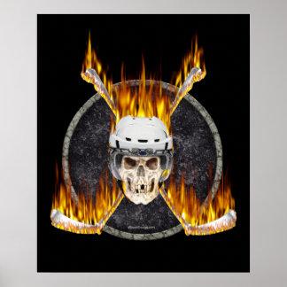 Burning Hockey Sticks poster