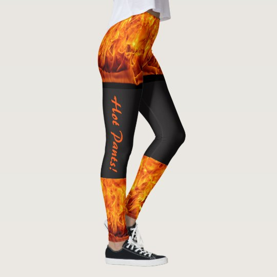 Burning Hot Pants Leggings Women's On Fire Running