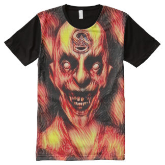 Burning Illuminati Vampire Dark Horror Art