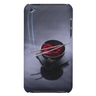 Burning incense on top of bowl of petals barely there iPod case