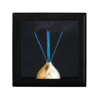 Burning Incense Pot Smoking New Age Spiritual Keepsake Box