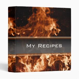 Burning Inferno Recipe Book Binders