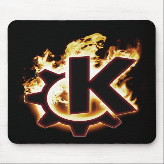 Burning KDE Linux icon Mouse Pad
