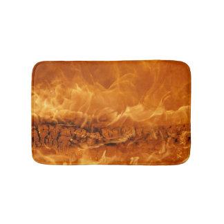 Burning Log, Fire Bath Mat