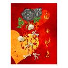 Burning Love Fire Postcard