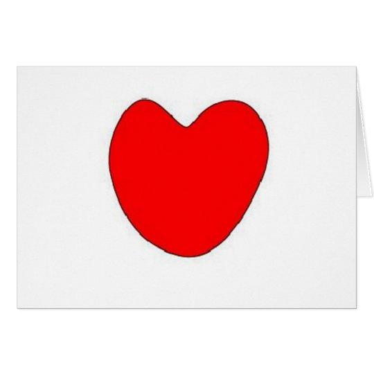 Burning love heart card