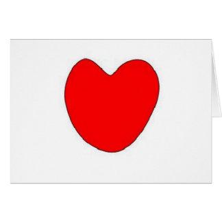 Burning love heart greeting card