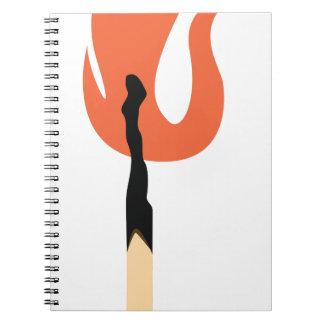 Burning Matchstick Notebook