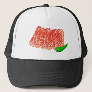Burning meat karubi trucker hat