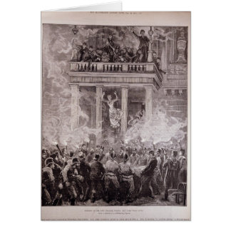 Burning of the Ring Theatre, Vienna Card